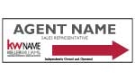 image for Agent Name Directional Arrow Sign Single sided - KW123A