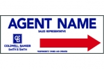image for Agent Name Directional Arrow Sign Double sided - CB123B