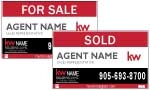 image for Slide in For Sale Sign Double Sided - KWDS