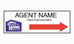 image for Agent Name Directional Arrow Sign Single sided - RH123A