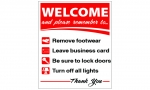 image for WELCOME BOARD 9''WIDE X 12''HIGH SELF STANDING STYRENE